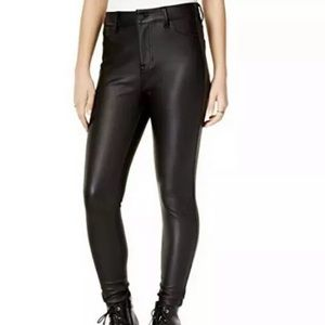 Celebrity Pink Faux Leather High Waist Pants 27